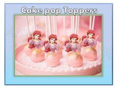 Printable Ariel The Little Mermaid Cupcake Topper Cake Pop Topper Picks Decor   eBay