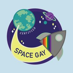 Check out this awesome 'Space Gay' design on @TeePublic!