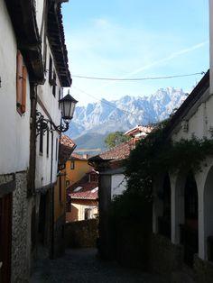 Potes con los Picos de Europa al fondo | Cantabria | Spain,#Spain Trademark