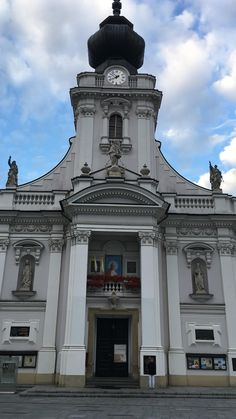 Basiliek in Wadowice Polen, geboorteplaats van Paus Johannes Paulus II