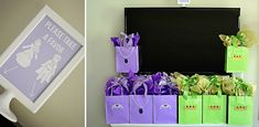 Sofia the First - goodie bags and take a favor sign
