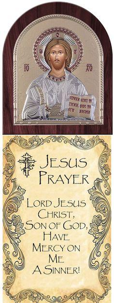 Jesus Christ Greek Orthodox Prayer  christ prayer,Greek Prayers, prayer quotes, greek orthodox Icon, made in Greece