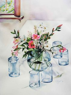 Table of Glass (Watercolor)