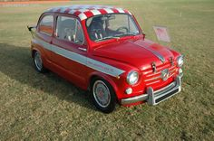 Photographs of the 1962 Abarth 850 TC. An image gallery of the . Fiat 600, Fiat Abarth, Vintage Cars, Classic Cars, Automobile, Trucks, Image, Italy, Car