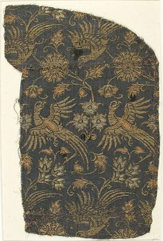 Textile with Brocade Date: 14th century Geography: Made in Lucca (probably) Culture: Italian Medium: Silk, Linen Accession Number: 12.55.1