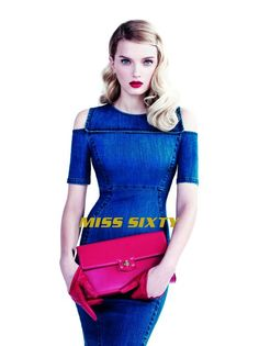 miss sixty spring 2014 campaign4 Lily Donaldson Dons Elegant Denim in Miss Sixty Spring 14 Ads