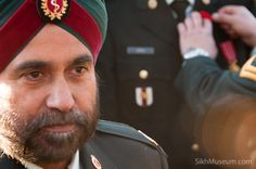 Captain Prabhjot Singh Dhanoa, Canadian Forces at the 2010 Sikh Remembrance Day Ceremony sponsored by SikhMuseum.com