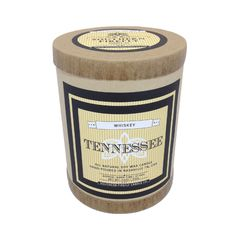 Tennessee Whiskey Scented Soy Candle in Glass Container