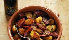 Spanish Chorizo Potato recipe using Aspall Organic Vinegar