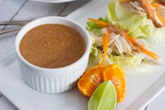 GF - Better than Peanut Sauce: Paleo Almond Satay Sauce | Rubies & Radishes -