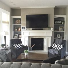 15 Pictures of Fun Living Room Design Ideas for Your Home - Here are some family room layout some a few ideas to secure you started out off in case your palms are itching to get some thing positive about the bland and tedious looks of one's own chamber. Coastal Living Rooms, New Living Room, My New Room, Living Room Decor, Living Room Furniture Layout, Cottage Living, Coastal Cottage, Formal Living Rooms, Living Room Sofa