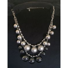 Silver and Black Statement Necklace Feel Free to ask me any questions Jewelry Necklaces