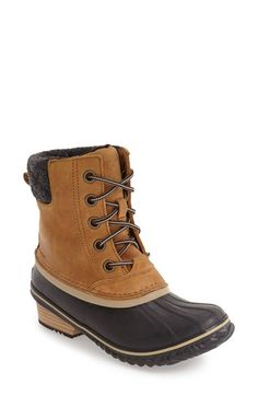 Free shipping and returns on SOREL Slimpack II Waterproof Boot (Women) at Nordstrom.com. Whether you're shoveling snowy sidewalks or commuting to work, this rugged boot is made for those who brave the cold. Crafted with a cozy microfleece lining, this waterproof leather boot also features a herringbone-patterned sole for better traction and a molded footbed with arch support for comfortable wear.