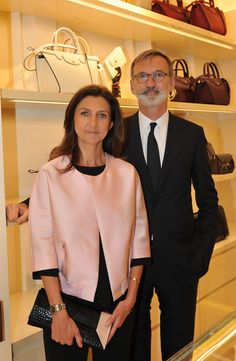Firenze Flagship Opening - Sophie Delafontaine and Jean Cassegrain