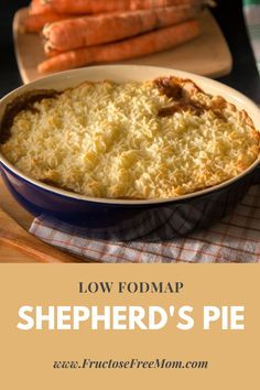 Nothing better than a warm and comforting sherpher's pie coming out of the oven of a chilly evening. Comfort food to the max! This recipe happens to be low FODMAP, gluten free and delicious!