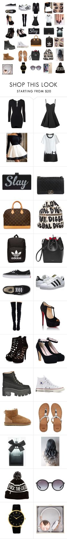 """""""A Few Things I Like"""" by infinitee-vibez on Polyvore featuring Topshop, Glamorous, Chanel, Louis Vuitton, adidas Originals, Vans, Christian Louboutin, Jeffrey Campbell, Converse and UGG Australia"""