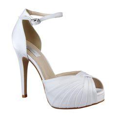 820e24168 Belíssima Peep toe para Noiva - Belle Mariée - MH9455 Sapatos De Casamento,  Sapatos De