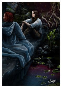 "Kvothe and Denna from ""The Name of the Wind"" by Patrick Rothfuss. These books are absolutely beautiful hence why I wanted to illustrate it. Kvothe and Denna - The Name of the Wind World Of Fantasy, Fantasy Books, Fantasy Artwork, Narnia, The Wise Man's Fear, The Kingkiller Chronicles, Patrick Rothfuss, Fairytale Art, Story Inspiration"