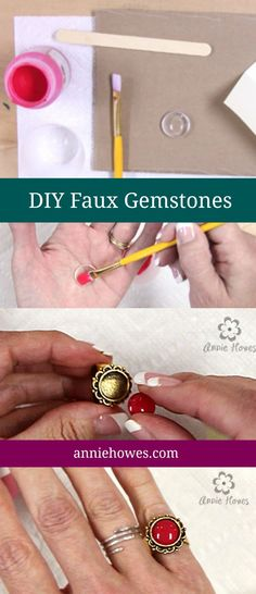 How to make your own Faux Gemstones tutorial #DIY