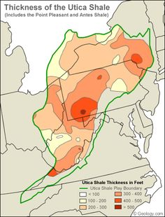 Interval Thickness Map Of The Utica Shale Play Charts Graphs - Utica shale map
