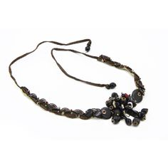 Antique Victorian Period Jewelry, Handmade Button Necklace, Lace and... ($95) via Polyvore featuring jewelry, necklaces, vintage jewellery, antique victorian necklaces, choker necklace, vintage choker necklace and victorian choker necklace