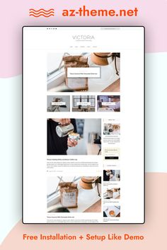 VICTORIA - Simple & Minimal WordPress Blog Victoria is a clean and minimal Wordpress blog theme. Victoria has a minimalistic layout that focuses on simplicity and readability. Easy installation allows you to start post blogs immediately after the activation. Theme supported Customizer which allows you to customize and change design of your blog. Perfect choice for your personal blog, corporate blog, marketing blog, authority blog or any type of creative blog.