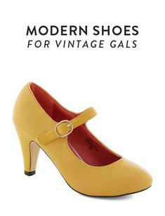 The Best Vintage Inspired Shoes to Wear with Vintage Dresses @Tredessa Thomas Faaland @Stormie Burns Rhoades , these made me think of you!