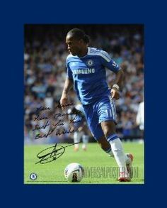 """Chelsea - Didier Drogba - Action 9 - 16"""" x 12"""" Personalised Poster £19.95"""