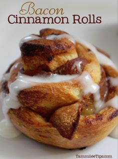 Bacon Cinnamon Rolls - two of my favorite foods combined into one salty-and-sweet recipe... I'll have to try this one. :)