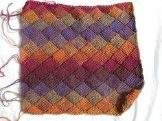Elegant tunisian entrelac crochet patterns tunisian entrelac using sock yarn. the kenneth st boudoir: tunisian entrelac crochet BWHVVRY Crochet Afghans, Tunisian Crochet Patterns, Crochet Slippers, Knit Crochet, Knitting Patterns, Learn Crochet, Crochet Classes, Afghan Patterns, Crochet Baby