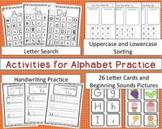 This ABC Bundle Includes: *Letter Search Activity for each letter*Handwriting Practice Page for each letter*Sorting Uppercase and Lowercase for each letter*Uppercase and Lowercase Letter Matching(I laminated these after printing them on card stock so they will hold up for a while.)*Picture Cards-Match the Picture to the Beginning Sound (Can be used with the Letter Cards)*****************************************************************************Customer Tips: How to get TPT credit to use on…