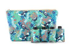 Essential Oil Bag,  Essential Oil Travel Bag, Essential Oil Pouch, Essential Oil Carry Bag, Essential Oil Wallet, Green Magpies