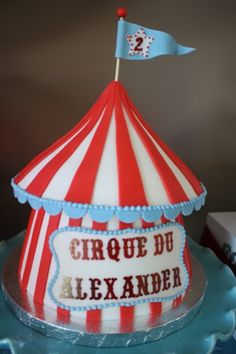 "Maybe instead of all cupcakes we could do a little ""Big Top"" cake and cupcakes an assortment or all the same ones. You could have lions, balloons, etc."