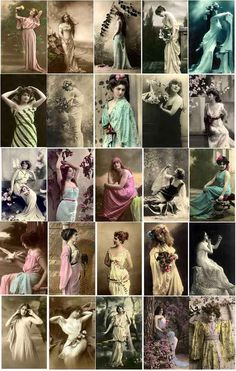 Everything Vintage Enchanting Women of Copyright Free Images to Download