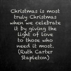 Amazing Christmas Quotes About Giving And Sharing | Christmas   Ruth Carter  Stapleton