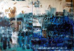 "Saatchi Art Artist Niki Hare; Painting, ""blue wall"" #art"