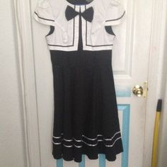 Classic Rockabilly Swing Dress BEAUTIFUL BLACK AND WHITE ROCKABILLY DRESS ! never worn ! Hearts And Roses London  Dresses