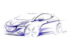 Peugeot 208 XY Design Sketch Fiat 500e, Car Sketch, Transportation Design, Peugeot, Exterior Design, Sketching, Automobile, Concept, Gallery