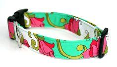 Dog Collar  Azalea Pop by CreatureCollars on Etsy, $17.00