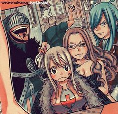 Lucy Heartfilia, Evergreen, Freed Justine, Bickslow, and Laxus Dreyar!!! <3
