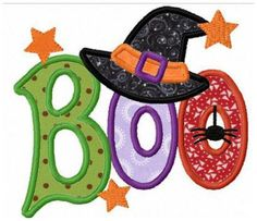 Grand Sewing Embroidery Designs At Home Ideas. Beauteous Finished Sewing Embroidery Designs At Home Ideas. Halloween Quilts, Halloween Applique, Halloween Embroidery, Halloween Clipart, Halloween Boo, Halloween Cards, Machine Embroidery Projects, Machine Embroidery Applique, Applique Patterns