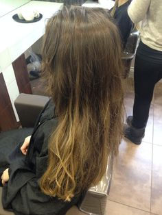 Hair before half head and blowdry!  9/02/15
