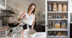 Glass jars and bulk ingredients make for a zero-waste (and picture-perfect) kitchen.