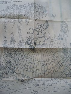Vintage Embroidery Patterns unravelled: Vintage embroidery inspiration - before Embroidery Scissors, Embroidery Transfers, Hand Embroidery Patterns, Ribbon Embroidery, Embroidery Stitches, Machine Embroidery, Embroidery Ideas, Floral Embroidery, Embroidery Alphabet