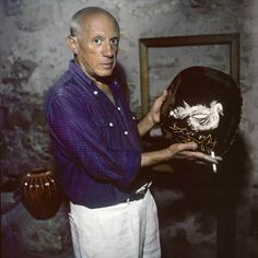 Pablo Picasso, Vallauris 1954 photo Willy Rizzo