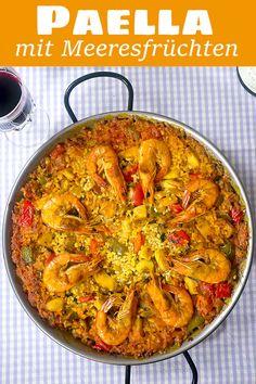 Seafood Lasagna, Seafood Paella, Seafood Salad, Shellfish Recipes, Seafood Recipes, Gourmet Recipes, Chicken Recipes, Heart Healthy Recipes, Healthy Dinner Recipes