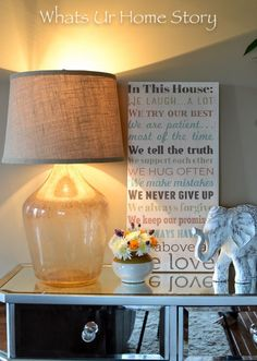 DIY Home Decor Inspiration : Illustration Description Potterny Barn knock off! You won't believe how much I made this demijohn lamp for! -Read More – - #DIYHome https://adlmag.net/2017/09/24/diy-home-decor-inspiration-potterny-barn-knock-off-you-wont-believe-how-much-i-made-this-demijohn-lam/