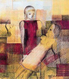 Itten, Johannes (1888-1967) - 1922 Girls (Kunsthaus Zurich, Switzerland) | Flickr – Compartilhamento de fotos! Bauhaus, Primary School Education, Johannes Itten, Study Philosophy, Berlin, Moholy Nagy, Josef Albers, Wassily Kandinsky, Cubism