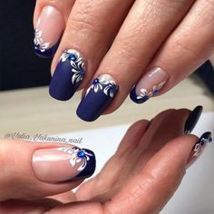 Nail Art Designs In Every Color And Style – Your Beautiful Nails Fingernail Designs, Acrylic Nail Designs, Nail Art Designs, Nails Design, Pretty Nail Art, Beautiful Nail Art, Elegant Nails, Stylish Nails, Blue Nails