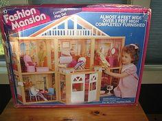 Vintage Barbie Fashion Mansion House 1985 Very RARE Find | eBay